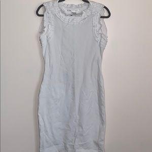 Diane Von Furstenberg White Dress Sz 12